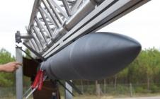 Une fusée expérimentale sur sa rampe