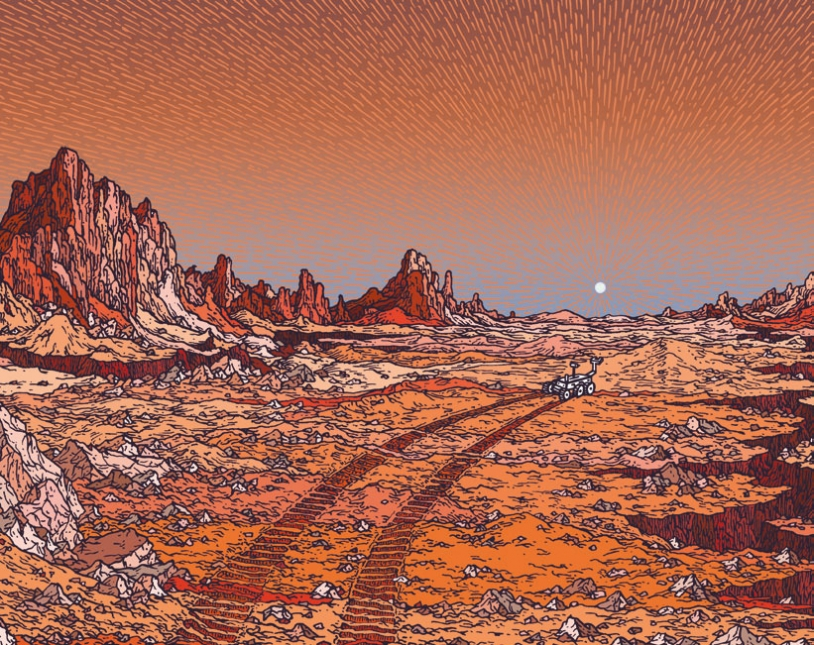 Carnet de voyage destination Mars - visuel de couverture